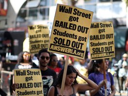 Students protest the rising cost of student loans, Hollywood Boulevard, September 22, 2012 Photograph: 2012 Getty Images